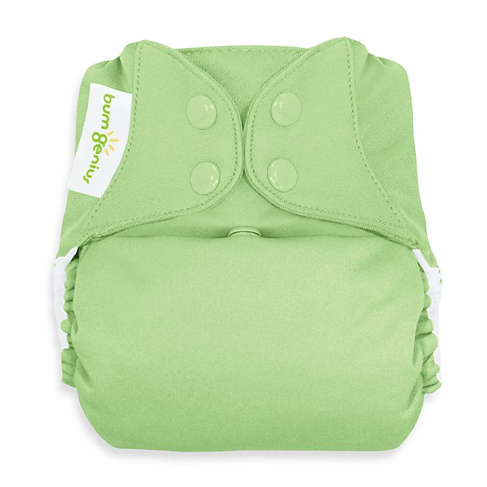 55595cfbd622a bumGenius™ Freetime Cloth Diaper with Snap Closure in Grasshopper ...