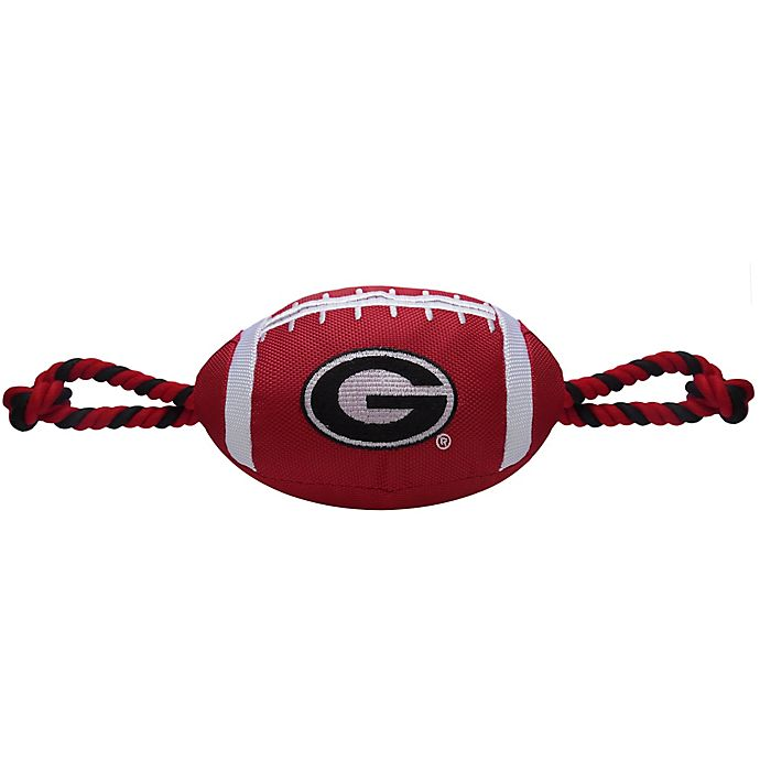 Alternate image 1 for University of Georgia Nylon Football Pet Rope Toy
