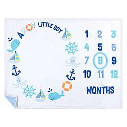 Hudson Baby® Ahoy Nautical Milestone Blanket in Blue