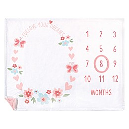 Hudson Baby® Follow Your Dreams Milestone Blanket in Pink