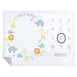 Hudson Baby® Hello World Milestone Blanket in Yellow