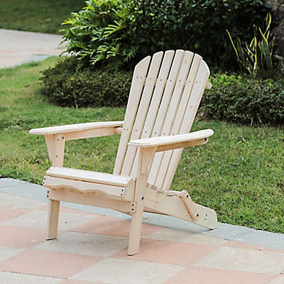 Winsome House® Hemlock Adirondack Chair in Natural