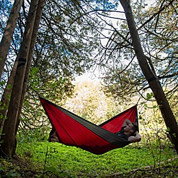 Vivere Double Parachute Hammock in Grey