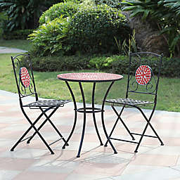 Winsome House® 3-Piece Mosaic Outdoor Bistro Set in Red
