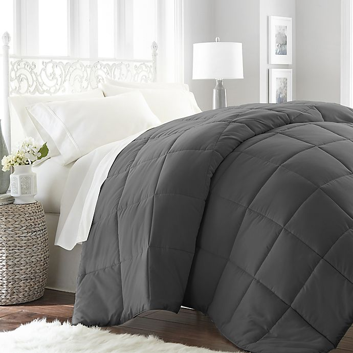 Alternate image 1 for Home Collection All Seasons Down Alternative Queen Comforter in Grey