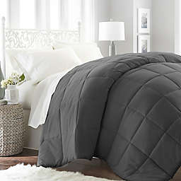 Home Collection All Seasons Down Alternative Queen Comforter in Grey
