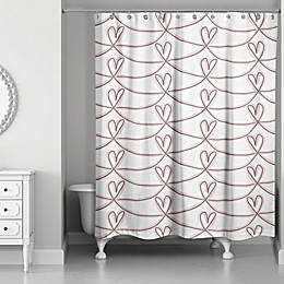 Designs Direct Pink Hearts Shower Curtain Collection