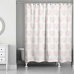 Designs Direct Tiny Pink Hearts Shower Curtain Collection