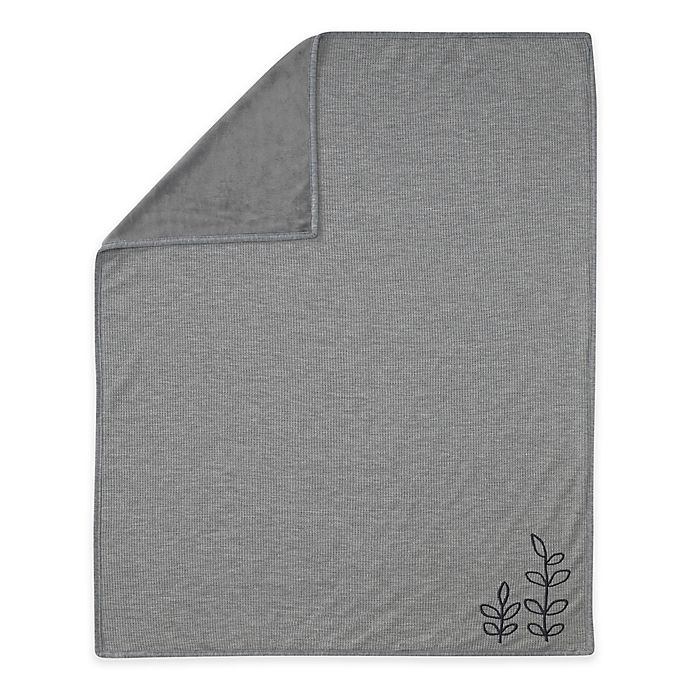 Alternate image 1 for Lambs & Ivy® Painted Forest Waffle Knit Baby Blanket in Heather Grey