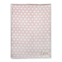Lambs & Ivy® Layla Love Baby Blanket in Pink/Gold