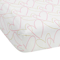 Lambs & Ivy® Layla Fitted Crib Sheet in Pink/Golden