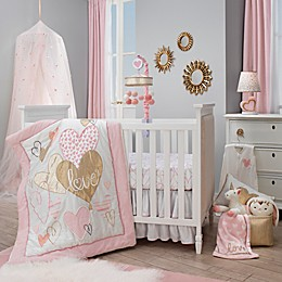 Lambs & Ivy® Layla Crib Bedding Collection in Pink/Golden