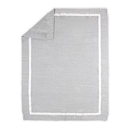 The Peanutshell™ Farmhouse Knit Baby Blanket in White/Grey