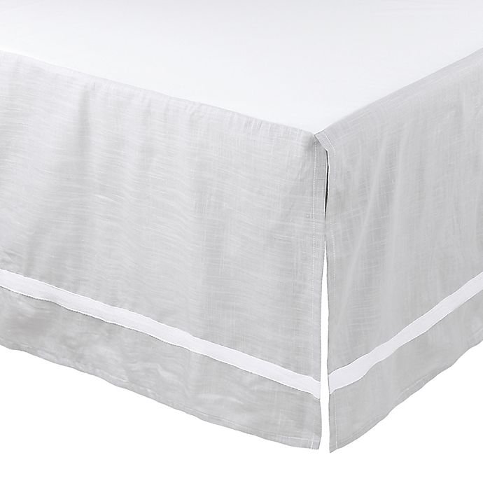 Alternate image 1 for The Peanutshell™ Farmhouse Crib Skirt in Grey