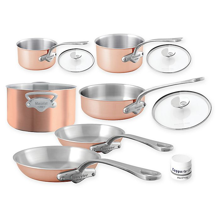Alternate image 1 for Mauviel 1830® M'3s Tri-Ply Copper 10-Piece Cookware Set