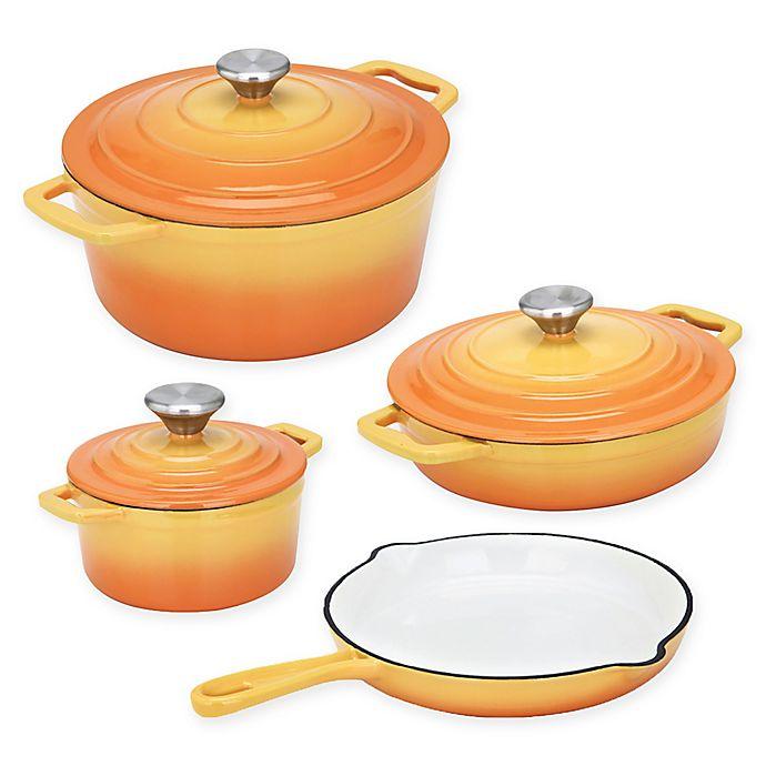 Alternate image 1 for CS Kochsysteme™ XANTEN Enameled Cast Iron 7-Piece Cookware Set in Yellow