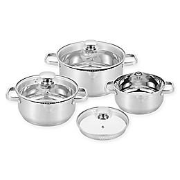 CS Kochsysteme™ LEIPZIG Stainless Steel 6-Piece Cookware Set