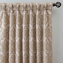 Gate Jacquard Pinch Pleat Window Curtain Panel