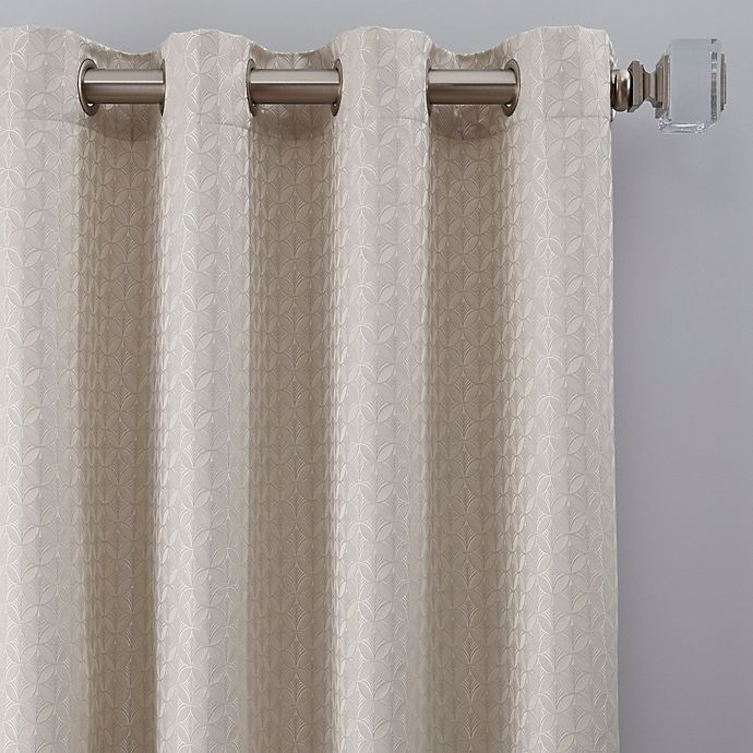 Alternate image 1 for Glam 63-Inch Grommet Window Curtain Panel in Platinum