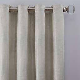 Grid Grommet Window Curtain Panel (Single)