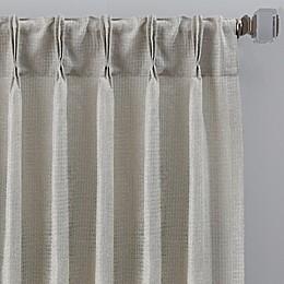 Grid Pinch Pleat Window Curtain Panel