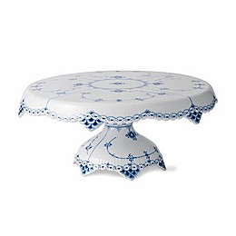 Royal Copenhagen Fluted Half Lace Footed Cake Stand in Blue