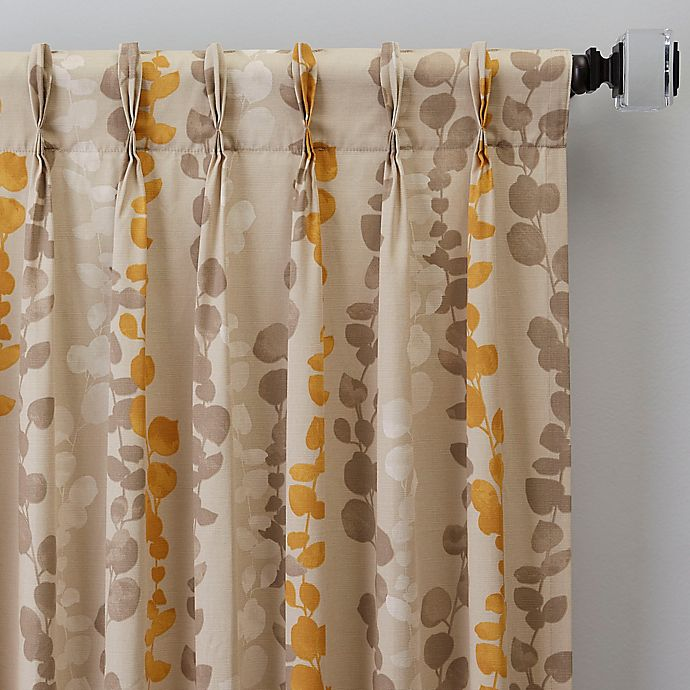 Alternate image 1 for Honesty 108-Inch Pinch Pleat Window Curtain Panel in Straw