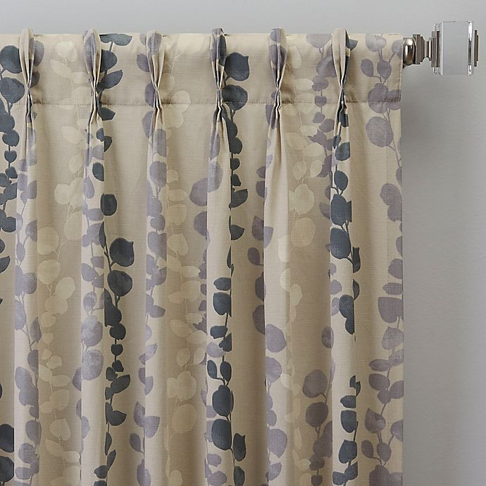 Alternate image 1 for Honesty 108-Inch Pinch Pleat Window Curtain Panel in Slate