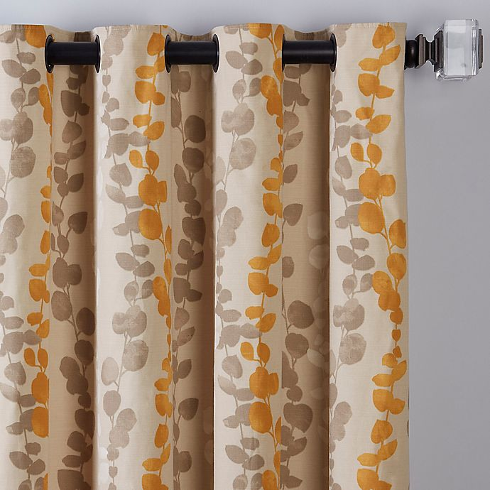 Alternate image 1 for Honesty 108-Inch Grommet Window Curtain Panel in Straw