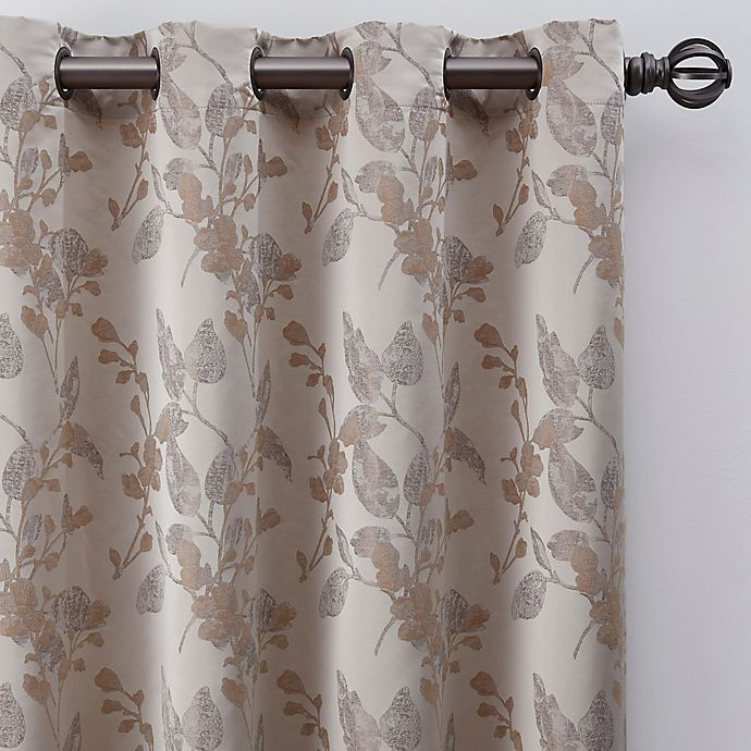 Alternate image 1 for Jenna 108-Inch Grommet Window Curtain Panel in Pearl