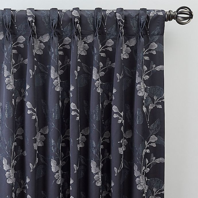 Alternate image 1 for Jenna 84-Inch Pinch Pleat Window Curtain Panel in Navy