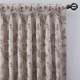 Jenna 63-Inch Pinch Pleat Window Curtain Panel in Pearl (Single)