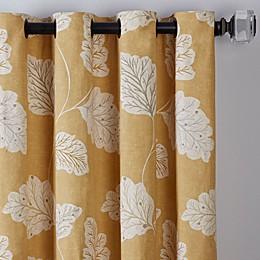 Leaf Motif Grommet Window Curtain Panel