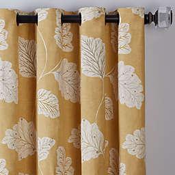 Leaf Motif Grommet Window Curtain Panel (Single)