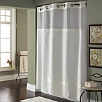 Hookless® Escape 71-Inch x 74-Inch Fabric Shower Curtain and Shower Curtain Liner Set in White