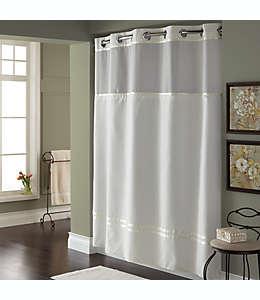Set de cortina de baño y forro de poliéster Hookless® Escape™, 1.8 x 1.87 m color blanco