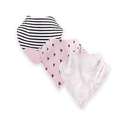 Yoga Sprout® 12-Pack Lace Garden Bandana Bib with Teether in Pink