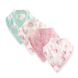 Luvable Friends® 12-Pack Unicorn Bandana Bibs in Pink