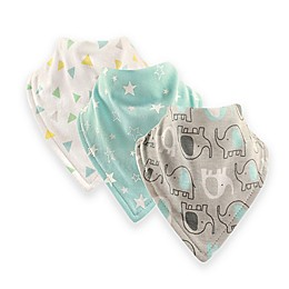 Luvable Friends® 12-Pack Elephant Bandana Bib with Teether in Blue