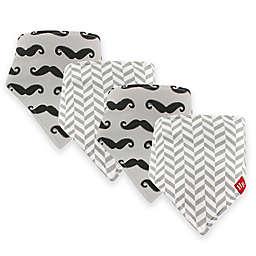 Hudson Baby® 12-Pack Mustache Bandana Bibs in Grey Hudson Baby