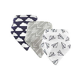 Hudson Baby® 12-Pack Paper Airplanes Bandana Bibs in Grey