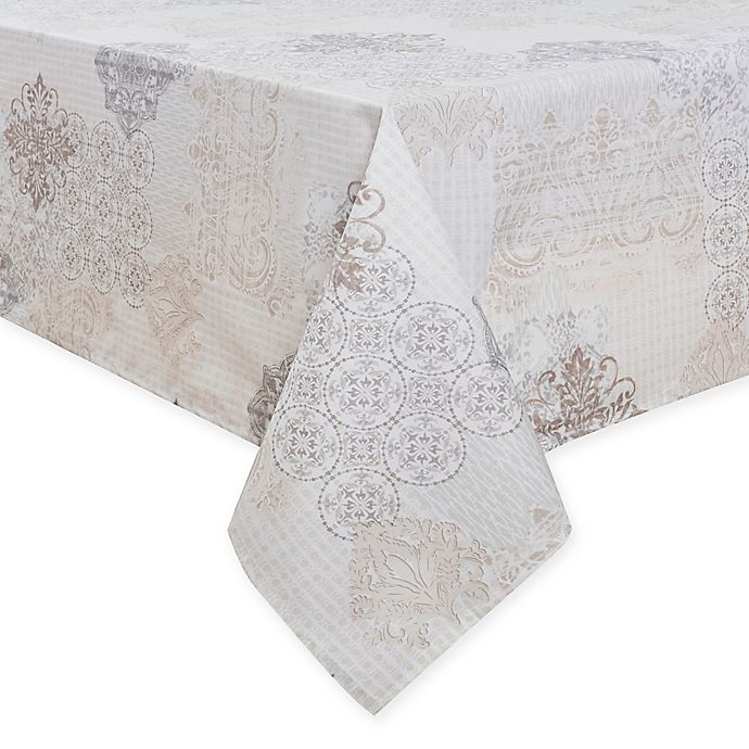 Alternate image 1 for Patchwork Laminated Fabric Table Linen Collection