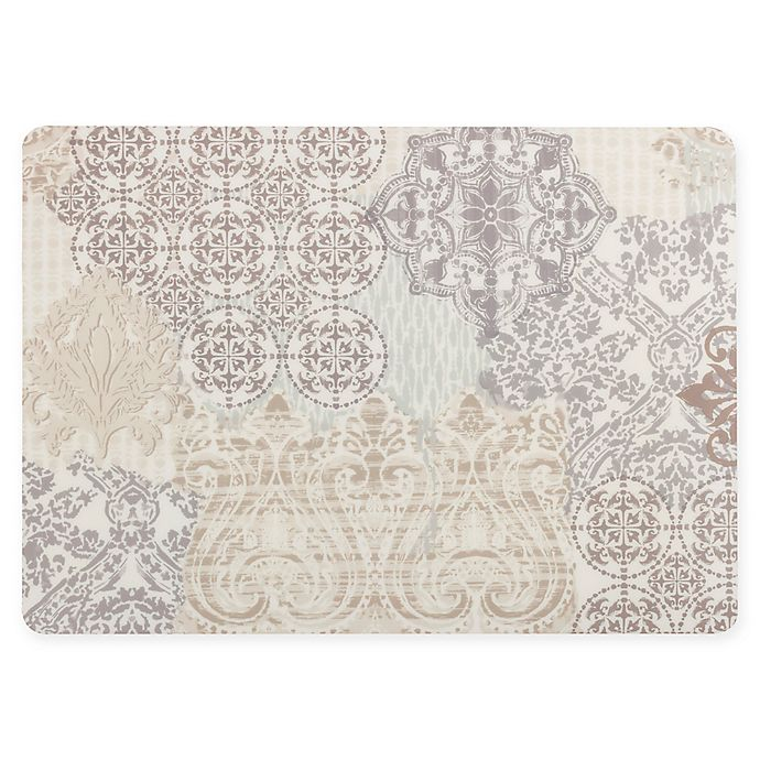 Alternate image 1 for Patchwork Laminated Placemat in Cream