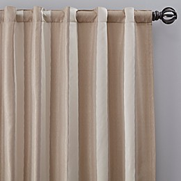 Luxe Wide Stripe Rod Pocket/Back Tab Window Curtain Panel