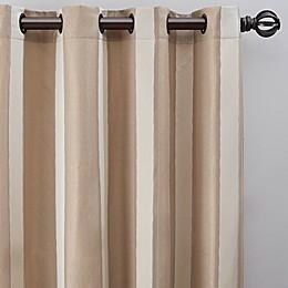 Luxe Wide Stripe Grommet Window Curtain Panel