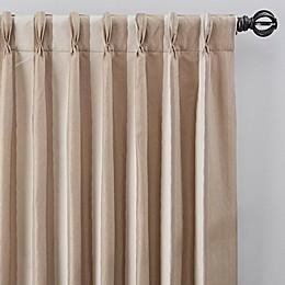 Luxe Wide Stripe Pinch Pleat Window Curtain Panel