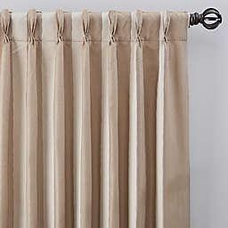 Luxe Wide Stripe Pinch Pleat Window Curtain Panel (Single)