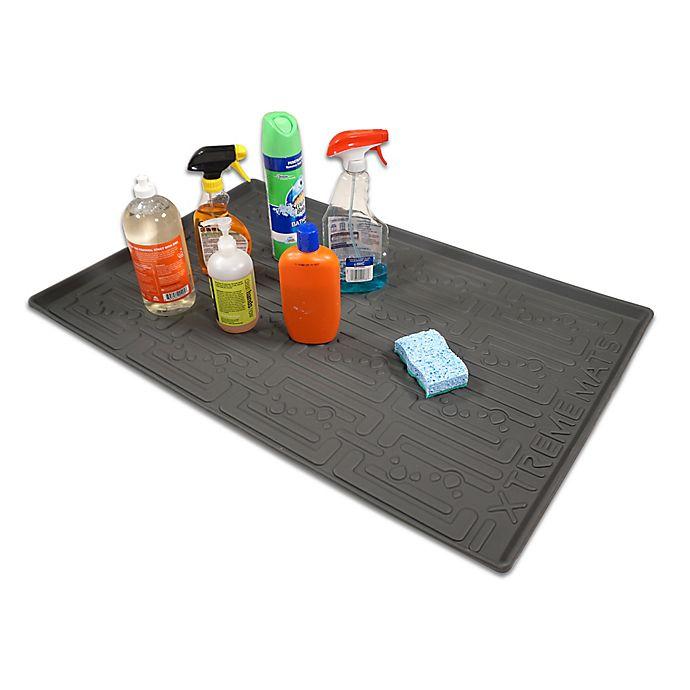 Alternate image 1 for Xtreme Mats 33.63-Inch x 21.88-Inch Under Sink  Kitchen Cabinet Mat in Grey