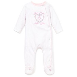 Little Me® Thank Heavens Footie in Light Pink