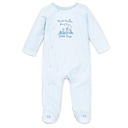 Little Me® Thank Heavens Footie in White/Skylight Blue